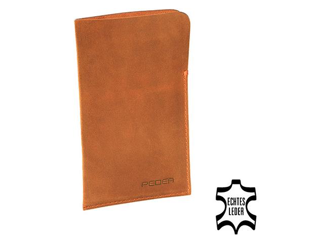 PEDEA Echtledertasche Tennessee Cognac Schutzhülle Tasche für iPhone ...